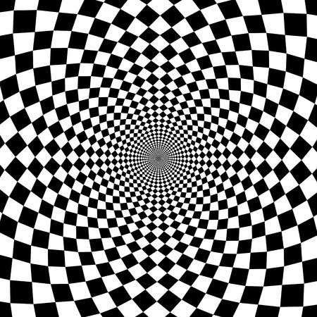 Vector optische illusie zoom zwart-witte achtergrond