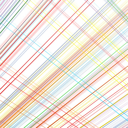 Abstract rainbow curved stripes color diagonal line art background