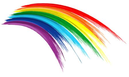 arc en ciel: Arc en ciel Art peinture de coup de pinceau de couleur dessiner fond