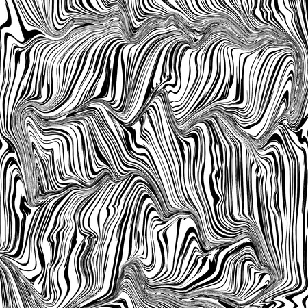 Abstract black and white texture curved lines vector background