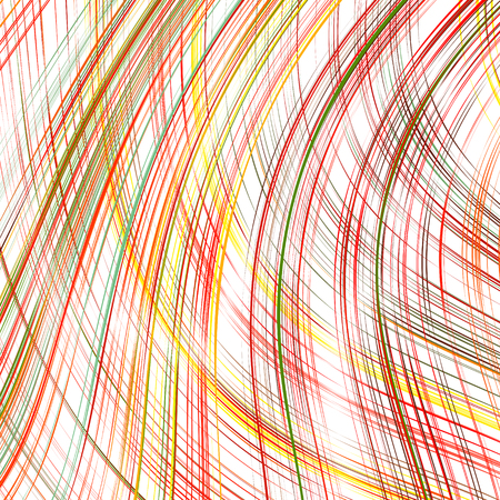Abstract curved stripes color line art vector background Illustration