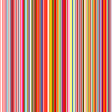 Seamless rainbow curved stripes color line art vector background Ilustrace