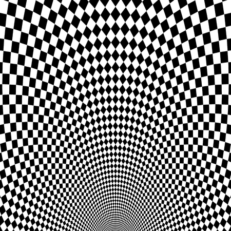 illusions: Vector optical illusion black and white background