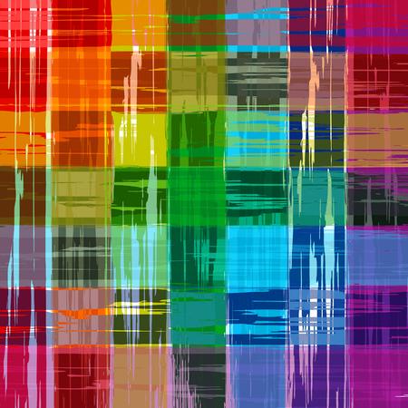 抽象的な虹色塗料グランジ格子縞パターン背景 写真素材 - 45870207