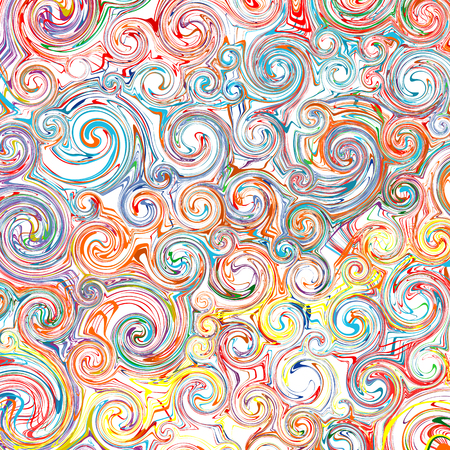 Abstract rainbow curved stripes color line art swirl pattern vector background 2