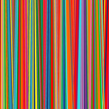 抽象的なレインボー カーブ ストライプ色のライン アートのベクトルの背景