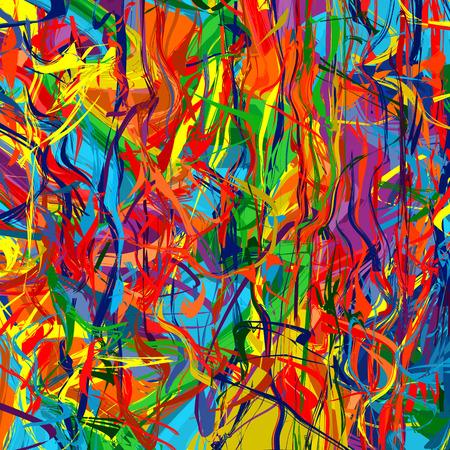 Pinceladas de arte color del arco iris chapoteo de la pintura abstracta de vectores de fondo 6