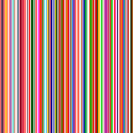 Seamless rainbow vertical stripes color line art vector background