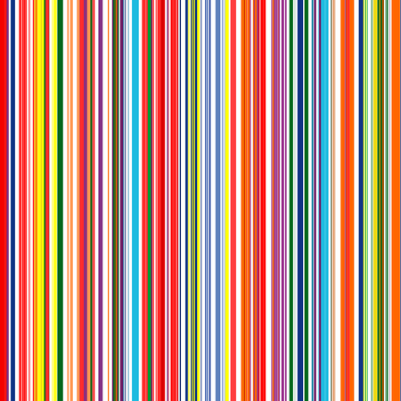 Seamless rainbow curved stripes color line art background Ilustração