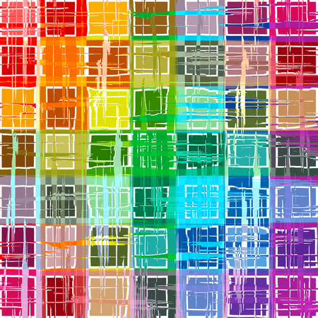 Abstract rainbow color paint grunge plaid art pattern mosaic background