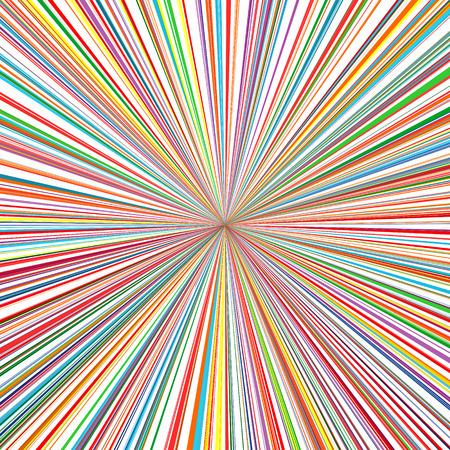 rainbow: Abstract rainbow color stripes line art vector sun rays burst background