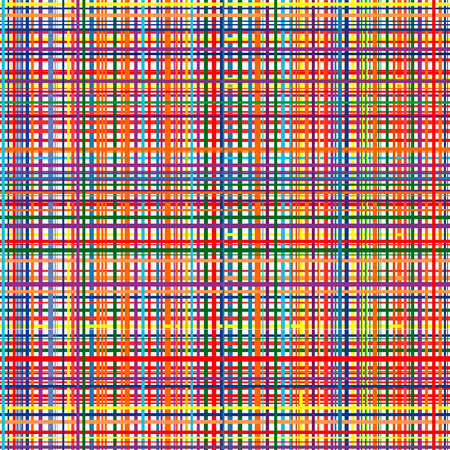 Art rainbow color line seamless pattern with fabric stripes texture Illustration