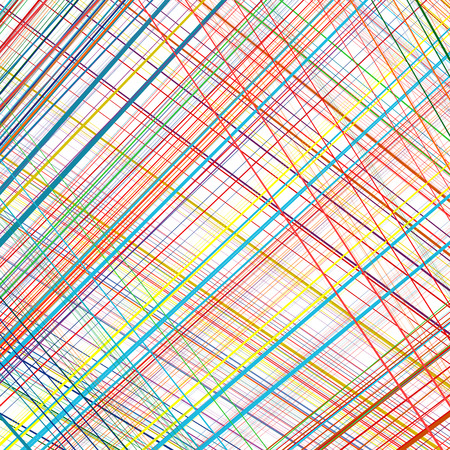 Abstract rainbow curved stripes color line art vector background