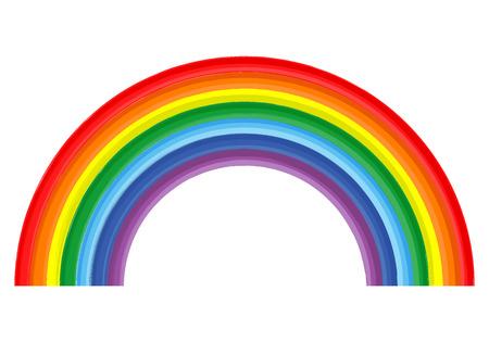 arco iris: Arte aislado color del arco iris de la pintura abstracta del vector en el fondo blanco