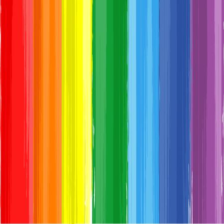 arco iris: Arco iris del arte de la pintura de color salpicaduras de vectores de fondo Vectores