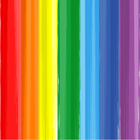Art rainbow color paint splash vector background Ilustração