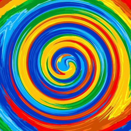 예술 소용돌이 무지개 시작 색상 추상적 인 배경 페인트