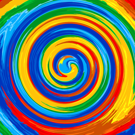 abstract wallpaper: Art swirl rainbow splash color paint abstract background