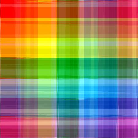 抽象的な虹色塗料グランジ格子縞パターン背景  イラスト・ベクター素材