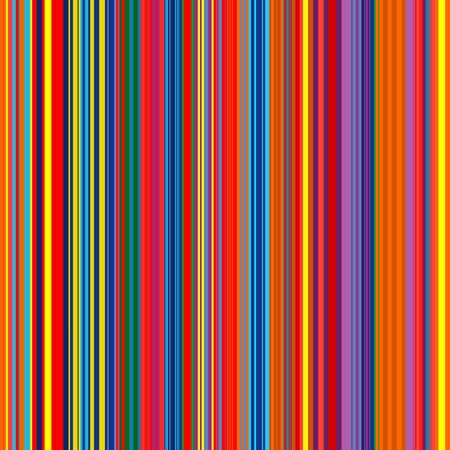 Abstract rainbow color stripes seamless vector background with lines.