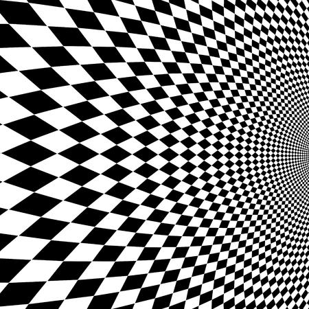 Vector optische Täuschung schwarzer und weißer Hintergrund.