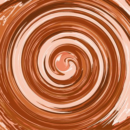 Abstract glossy chocolate vector background Swirl in a cup of coffee Twirl splash illustration. Illustration