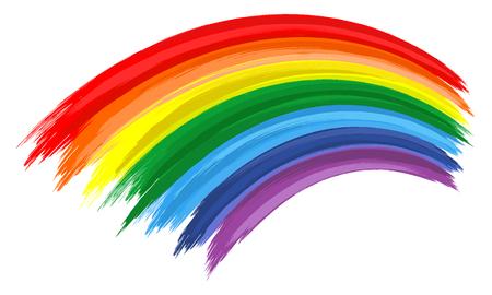 Art Regenbogenfarbe Pinselstrich. Malerei Vektor-Hintergrund