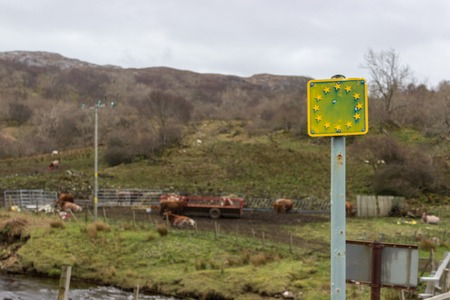 European Union sign on the Isle of Skye