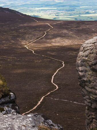 Trail of the side of Bennachie, Scotland