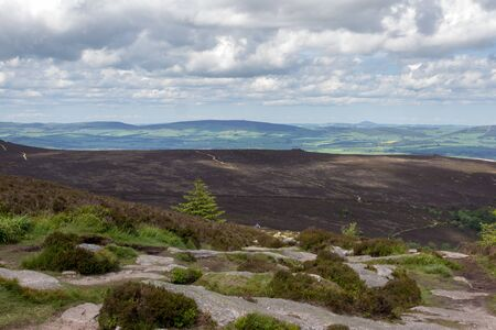 Landscape of the side of Bennachie, Scotland Stock Photo