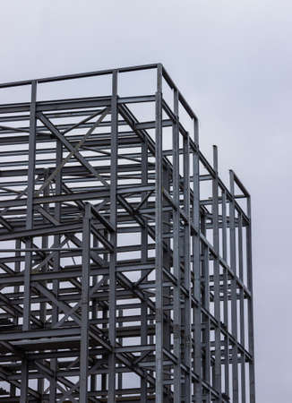 Metal frame of a builing in Glasgow, Scotland Stockfoto