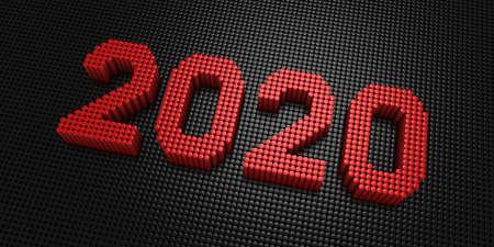 Cylinders Form The Number 2020 Zdjęcie Seryjne - 136971494