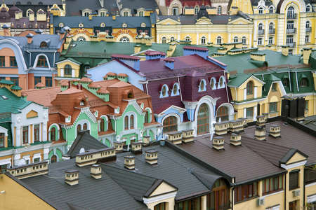 kyiv: Colorful roofs in Kyiv, Ukraine