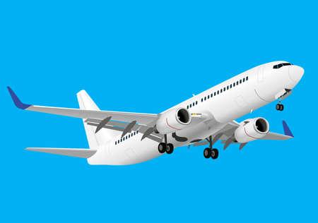 Gedetailleerde vliegtuigen Stock Illustratie
