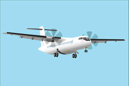 regional: Regional passenger airplane detailed vector