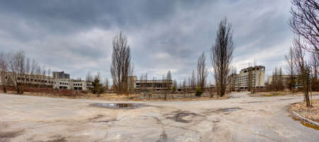 central square: The central square of Pripyat, Chernobyl zone of alienation