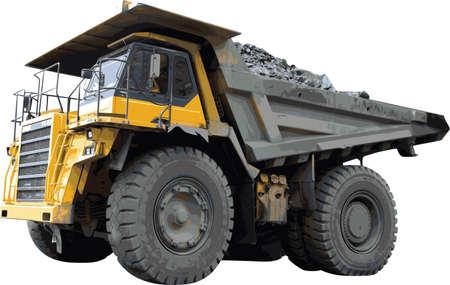 Heavy mining truck detailed vector Vector
