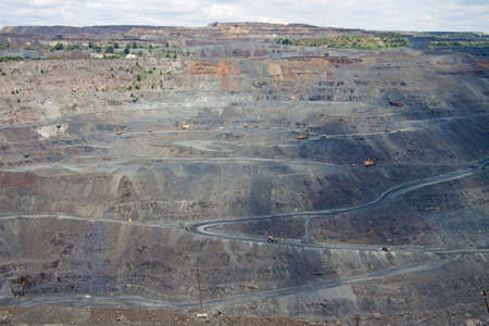 Iron ore opencast mining: general view photo