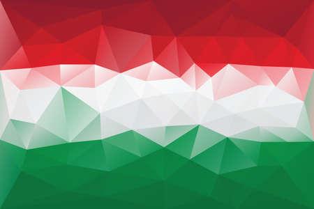 Hungarian flag - triangular polygonal pattern