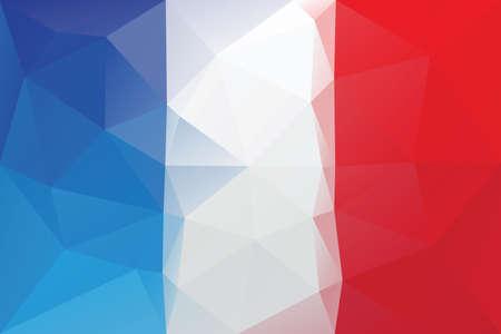 french flag: French flag - triangular polygonal pattern