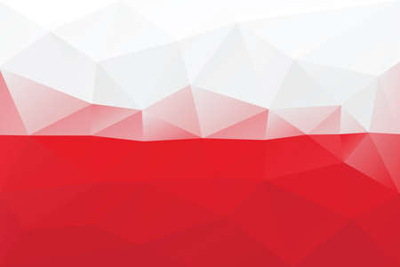Polish flag - triangular polygonal pattern