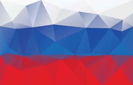 russian flag: Russian flag - triangular polygonal pattern