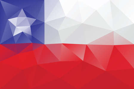bandera chile: Bandera de Chile - modelo poligonal triangular