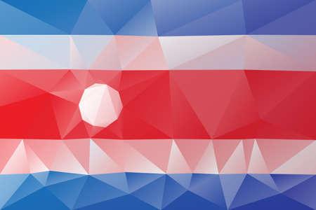 costa rica flag: Costa Rica flag - triangular polygonal pattern Illustration