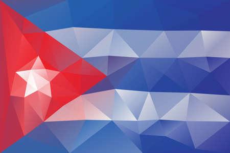 bandera cuba: Bandera de Cuba - modelo poligonal triangular