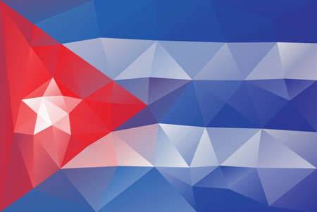 kuba flagge: Cuba Flag - Dreiecks polygonale Muster Illustration