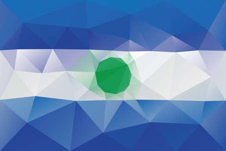 bandera de el salvador: Bandera de El Salvador - modelo poligonal triangular Vectores