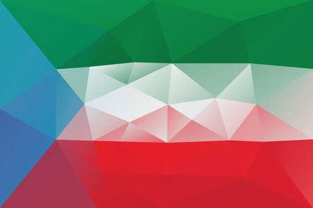 guinea equatoriale: Guinea Equatoriale bandiera - triangolare modello poligonale