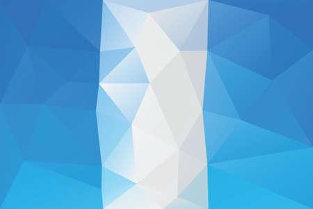 bandera de guatemala: Bandera de Guatemala - modelo poligonal triangular Vectores