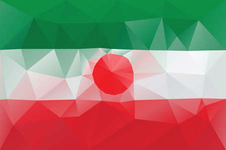 iranian: Iranian flag - triangular polygonal pattern